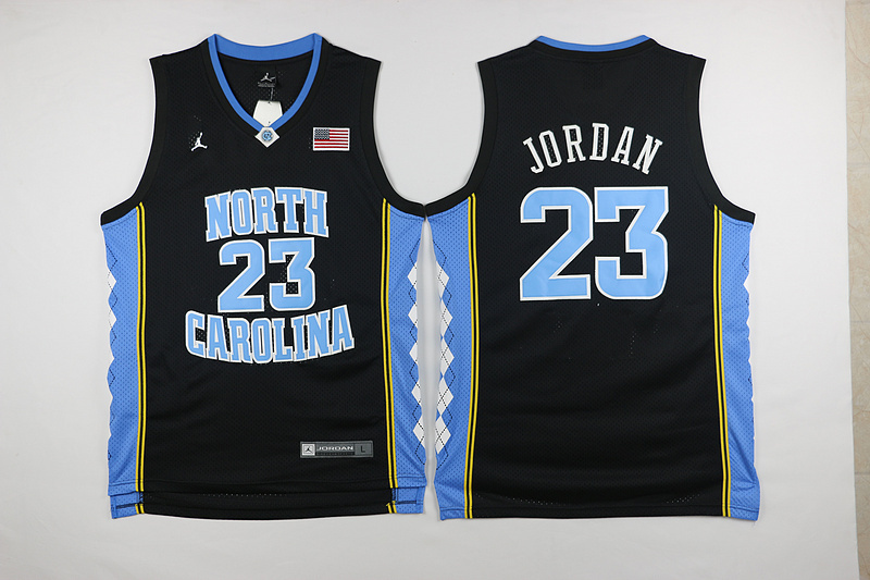 NBA Chicago Bulls North Carolina 23 Michael Jordan Black 2015 Jerseys