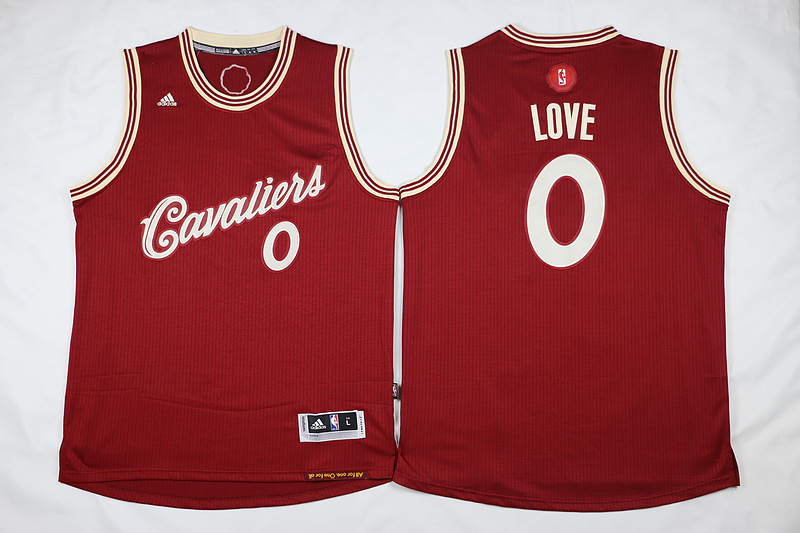 NBA Cleveland Cavaliers 0 Kevin Love Red 2015 Christmas Day Swingman Jersey
