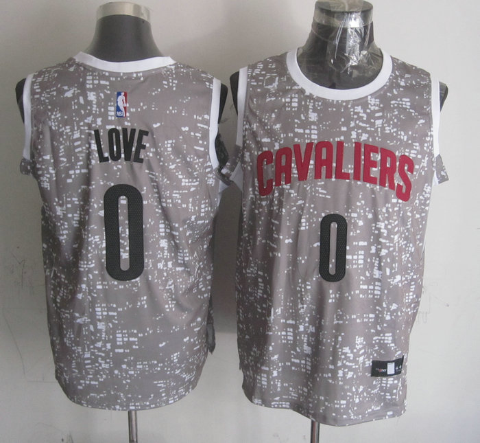 NBA Cleveland Cavaliers 0 love Grey National Flag Star Jersey