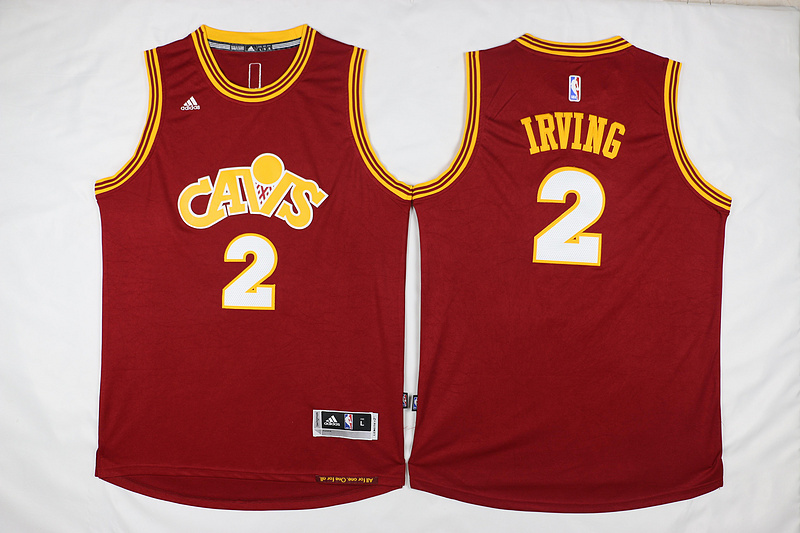 NBA Cleveland Cavaliers 2 Irving Red Throwback Jerseys