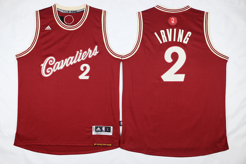 NBA Cleveland Cavaliers 2 Kyrie Irving Red 2015 Christmas Day Swingman Jersey.