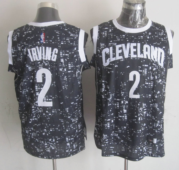 NBA Cleveland Cavaliers 2 irving Black National Flag Star Jersey