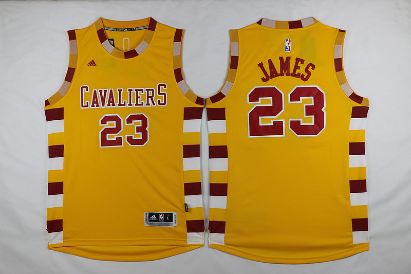 NBA Cleveland Cavaliers 23 James Yellow 2015 Jerseys