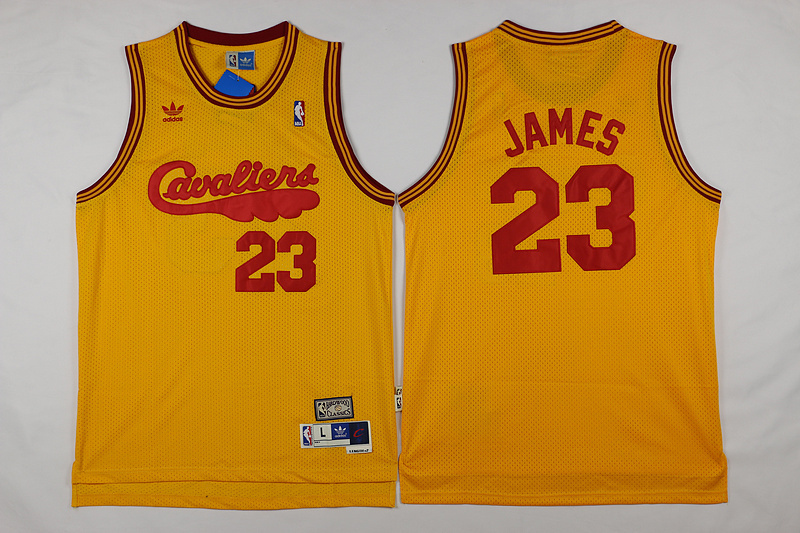 NBA Cleveland Cavaliers 23 James yellow 2017 Jerseys