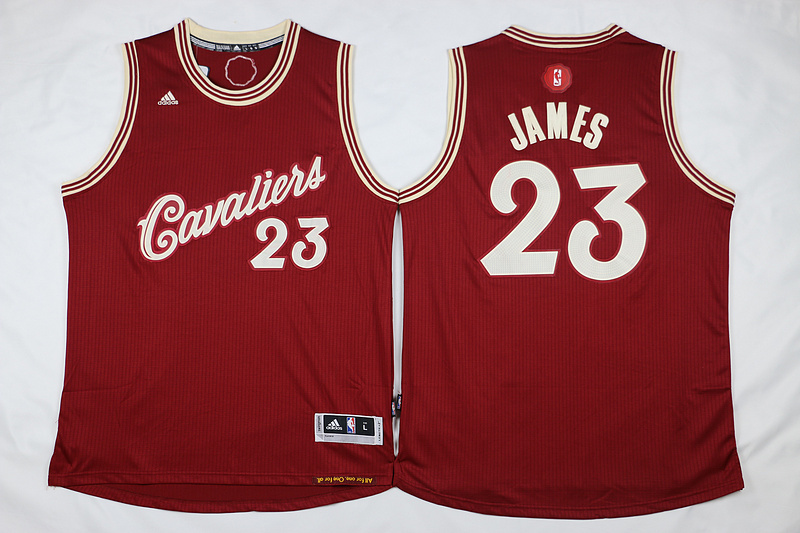 NBA Cleveland Cavaliers 23 LeBron James Red 2015 Christmas Day Swingman Jersey