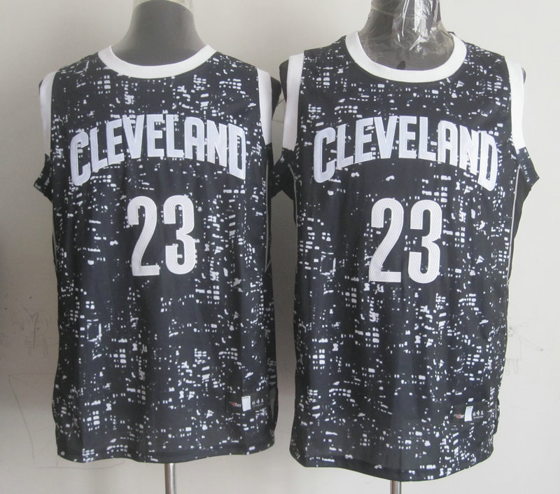NBA Cleveland Cavaliers 23 james Black National Flag Star Jersey