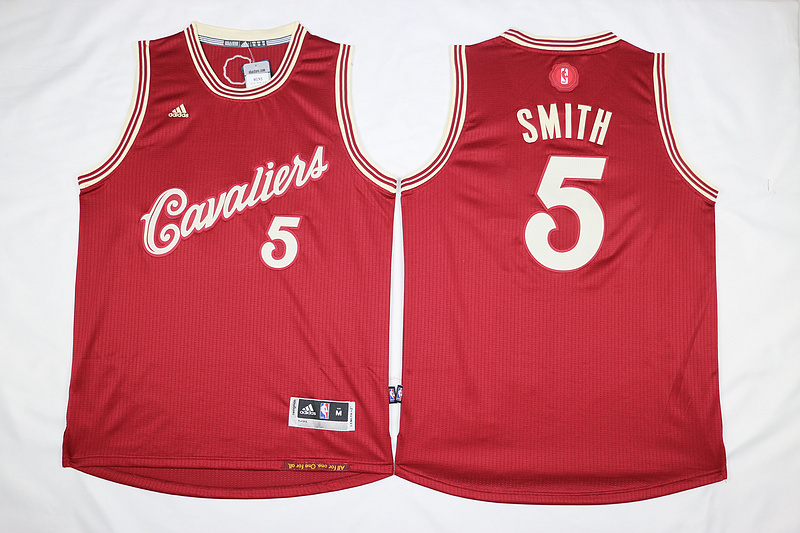 NBA Cleveland Cavaliers 5 JR Smith Red 2015 Christmas Day Swingman Jersey