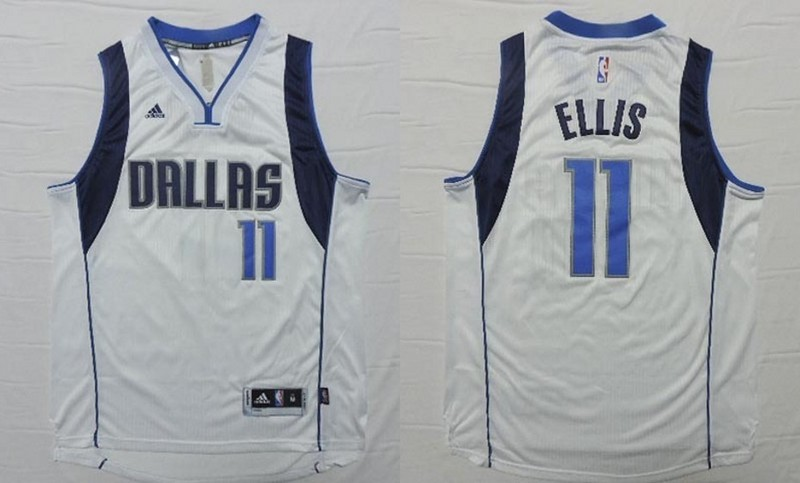 NBA Dallas Mavericks 11 Monta Ellis White 2015 Jerseys