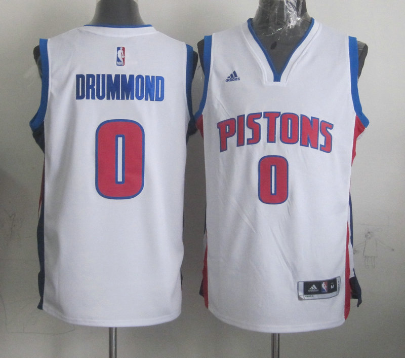 NBA Detroit Pistons 0 Drummond White 2015 Jerseys