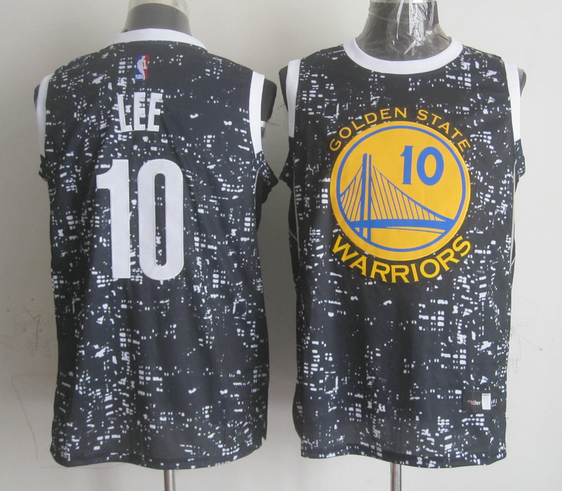 NBA Golden State Warriors 10 lee Black National Flag Star Jersey