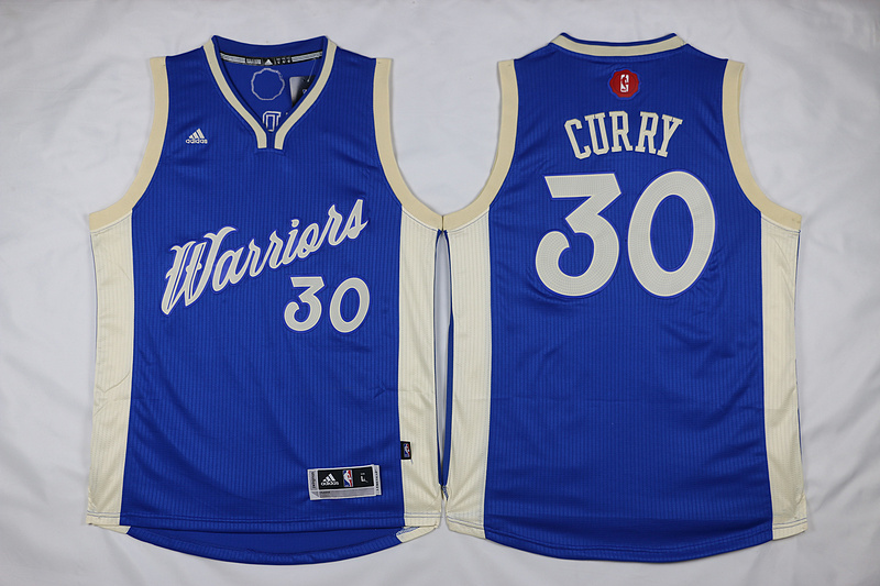 NBA Golden State Warriors 30 Stephen Curry Blue 2015 Christmas Day Swingman Jersey
