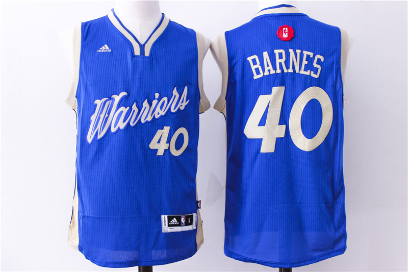 NBA Golden State Warriors 40 Harrison Barnes 2015 Christmas Day Swingman Jersey