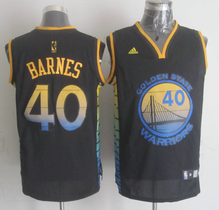 NBA Golden State Warriors 40 Harrison Barnes Black 2015 Jerseys