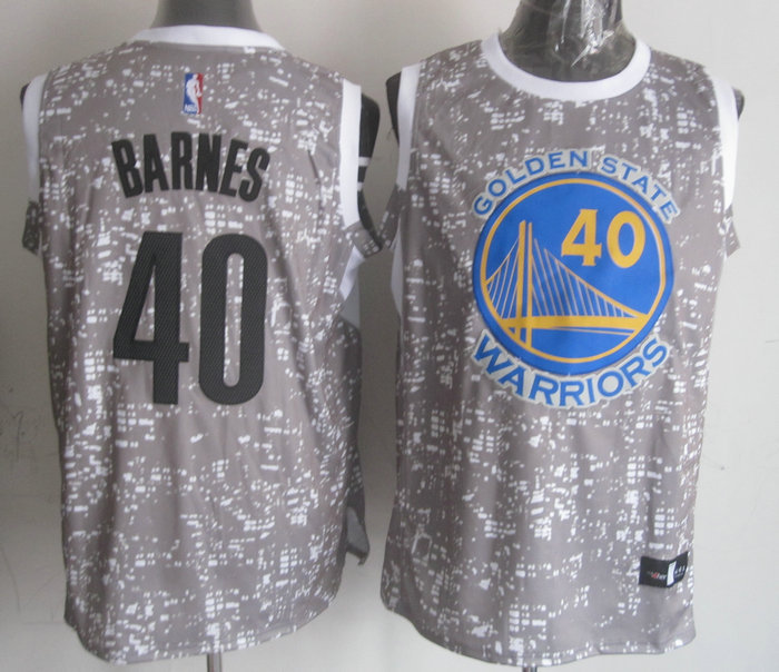 NBA Golden State Warriors 40 barnes Grey National Flag Star Jersey