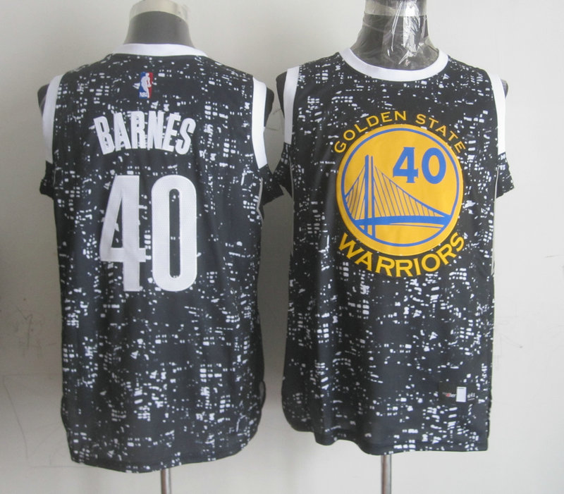 NBA Golden State Warriors 40 barnes black national flag star Jersey