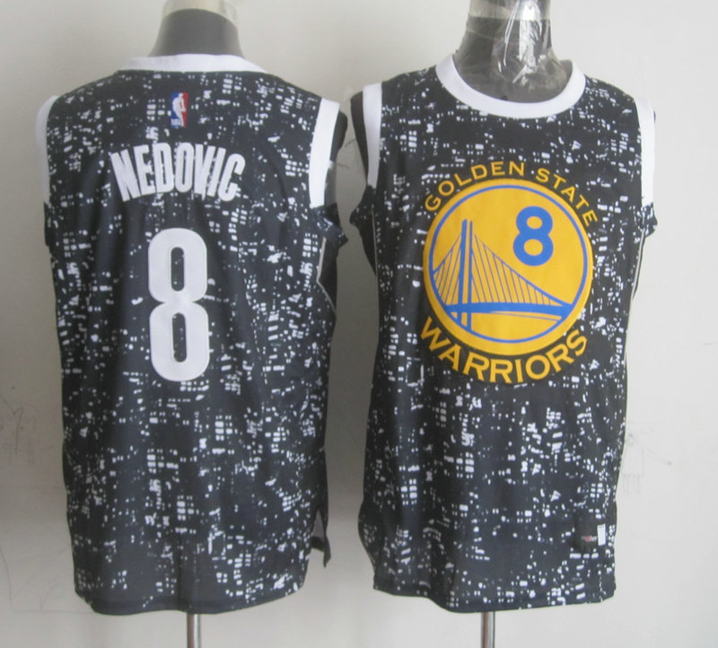 NBA Golden State Warriors 8 nedovic Grey National Flag Star Jersey