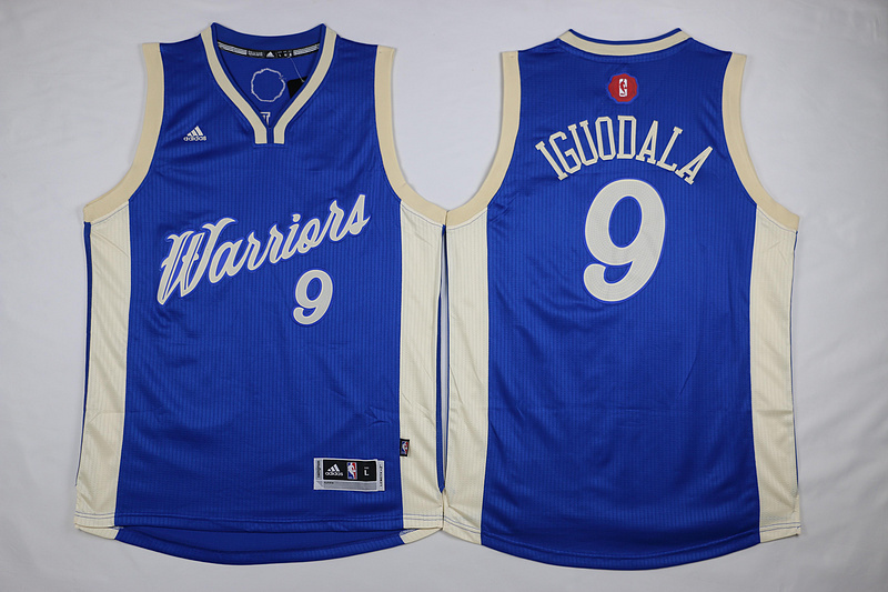 NBA Golden State Warriors 9 Iguodala Blue 2015 Christmas Day Swingman Jersey
