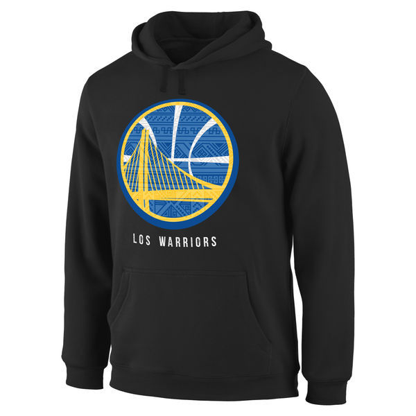 NBA Golden State Warriors Noches Enebea Pullover Hoodie - Black