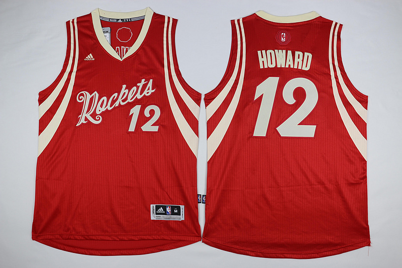 NBA Houston Rockets 12 Howard Red 2015 Christmas Day Swingman Jersey