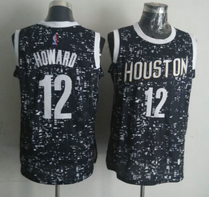 NBA Houston Rockets 12 howard black National Flag Star Jersey.
