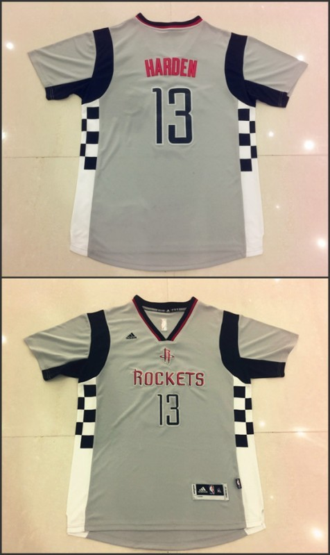 NBA Houston Rockets 13 James Harden Gray New Swingman Alternate Jersey