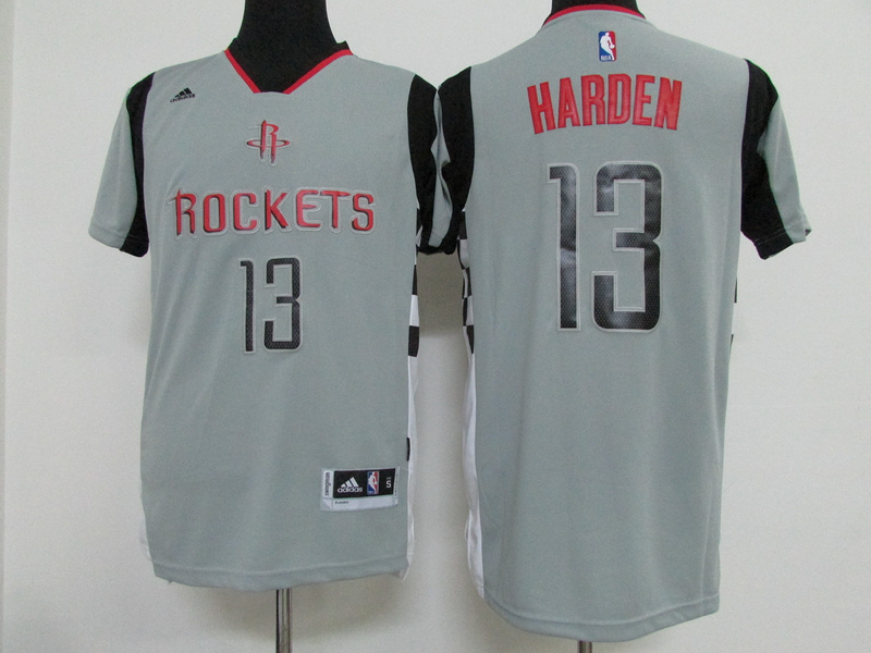 NBA Houston Rockets 13 James Harden Grey 2015 Jerseys