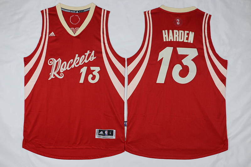 NBA Houston Rockets 13 James Harden Red Christmas Day Swingman Jersey