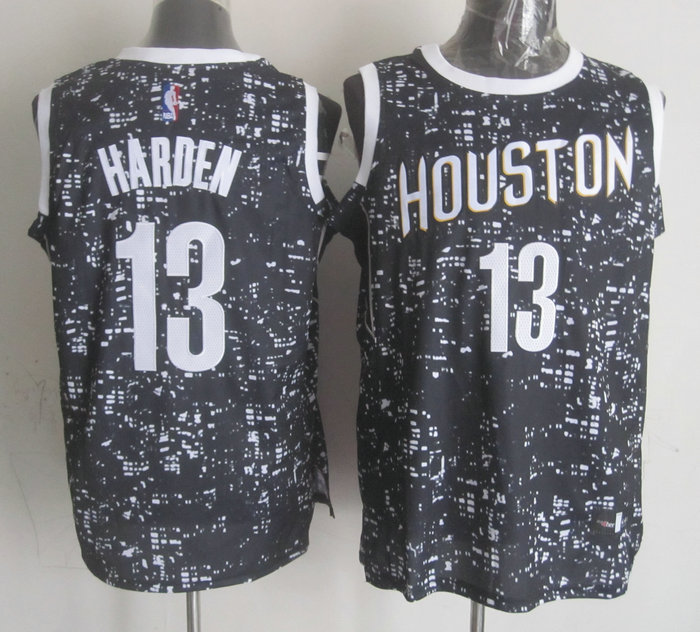 NBA Houston Rockets 13 harden black New National Flag Star Jersey
