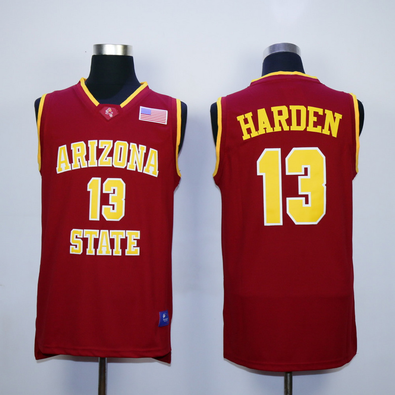 NBA Houston Rockets Arizona Stata Sun Devils NCAA 13 James Harden Red Vintage