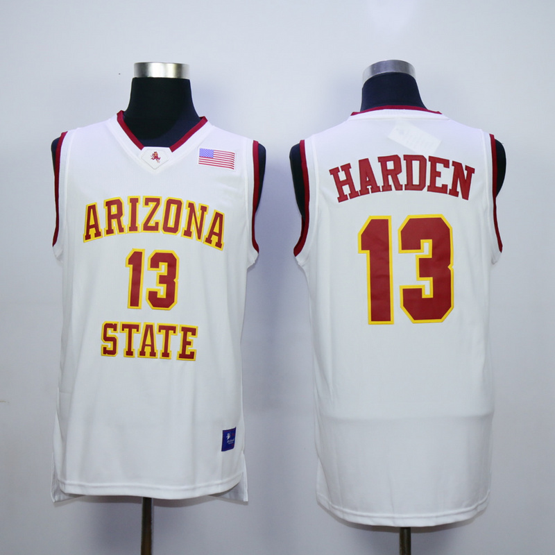 NBA Houston Rockets Arizona Stata Sun Devils NCAA 13 James Harden White Vintage