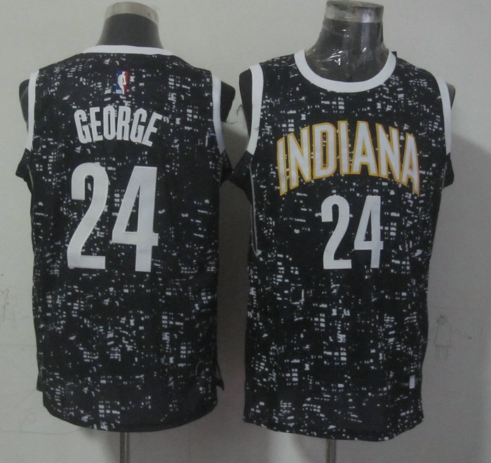 NBA Indiana Pacers 24 george black New National Flag Star Jersey.
