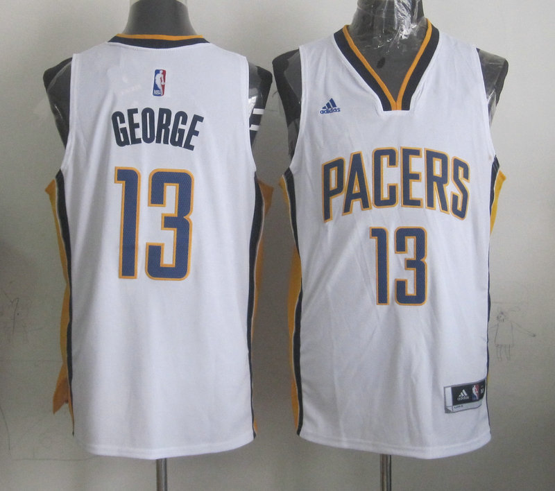 NBA Indlana Pacers 13 Paul George White 2015 Jerseys