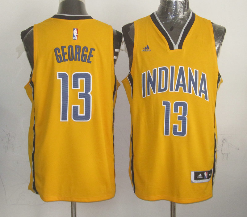 NBA Indlana Pacers 13 Paul George Yellow 2015 Jerseys
