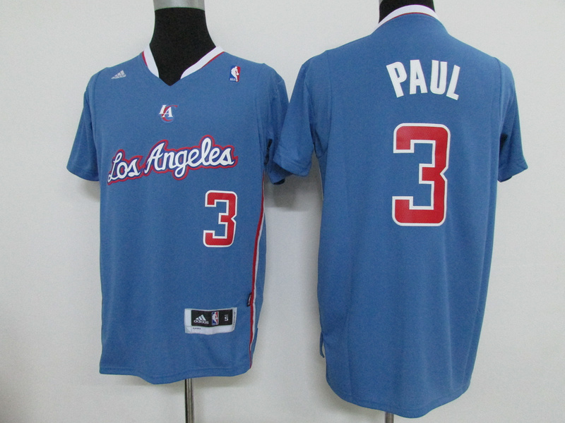 NBA Los Angeles Clippers 3 Chris Paul Blue 2015 Jerseys.