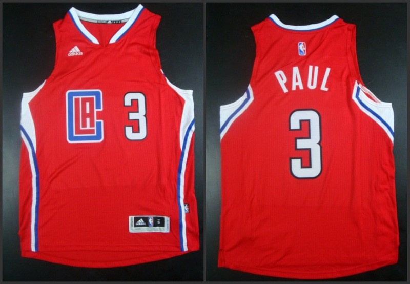 NBA Los Angeles Clippers 3 Chris Paul Red 2015 Jerseys
