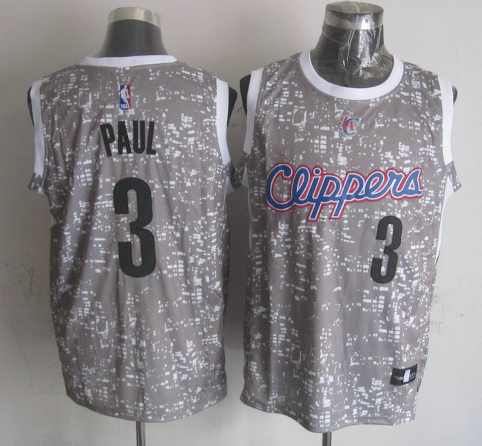 NBA Los Angeles Clippers 3 paul Grey National Flag Star Jersey