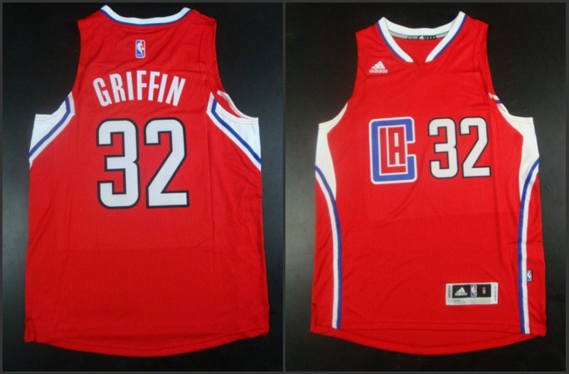 NBA Los Angeles Clippers 32 Blake Griffin Red 2015 Jerseys