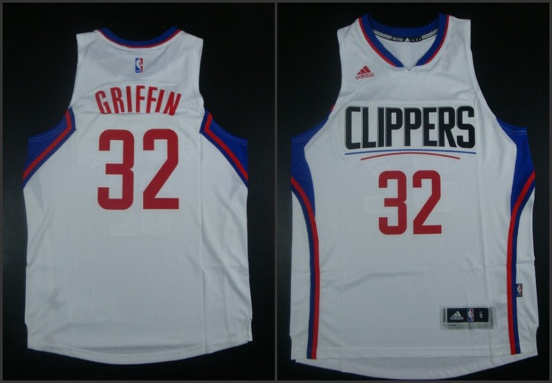 NBA Los Angeles Clippers 32 Blake Griffin White 2015 Jerseys