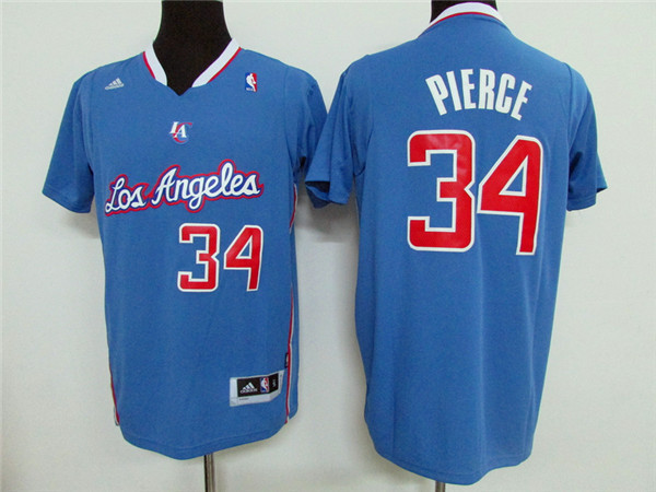 NBA Los Angeles Clippers 34 Paul Pierce Blue 2015 Jerseys