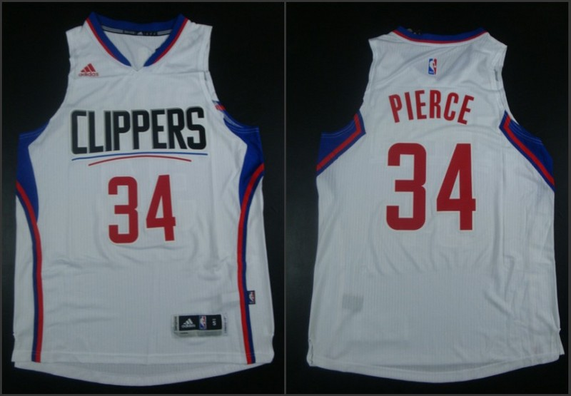 NBA Los Angeles Clippers 34 Paul Pierce White 2015 Jerseys