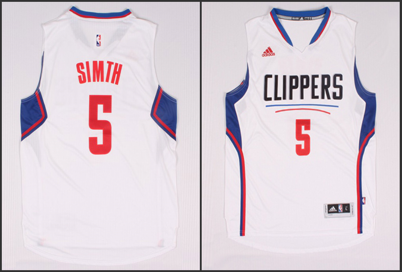 NBA Los Angeles Clippers 5 Simth White 2015 Jerseys