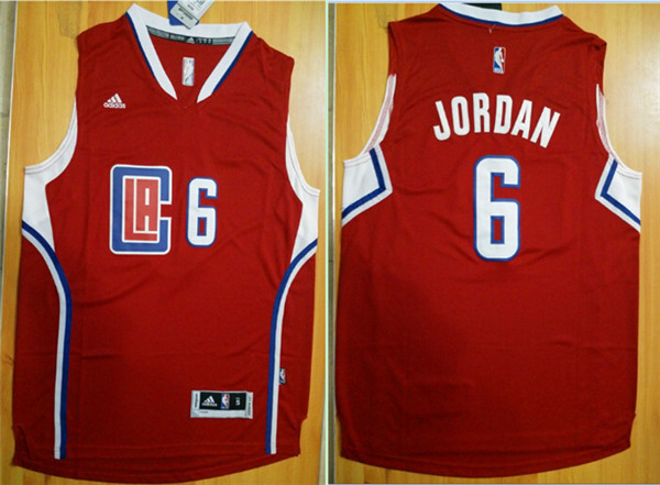 NBA Los Angeles Clippers 6 DeAndre Jordan Red 2015 Jerseys.