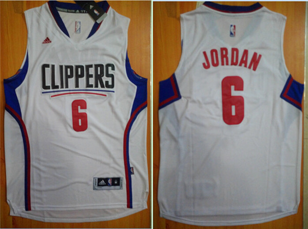 NBA Los Angeles Clippers 6 DeAndre Jordan White 2015 Jerseys