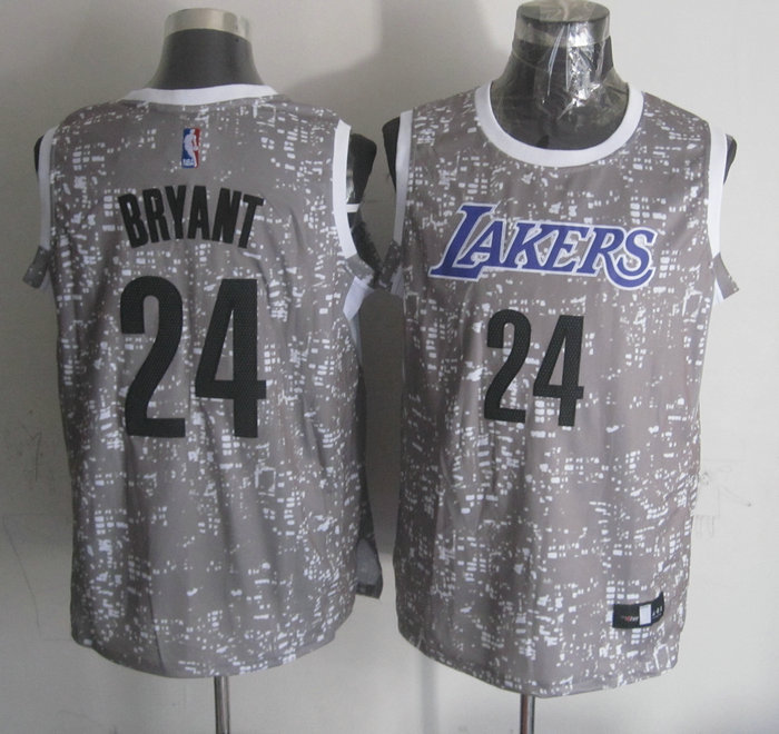 NBA Los Angeles Lakers 24 bryant Grey National Flag Star Jersey