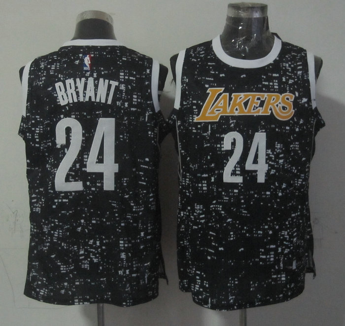 NBA Los Angeles Lakers 24 bryant black New National Flag Star Jersey
