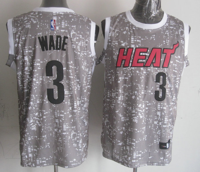 NBA Miami Heat 3 wade Grey National Flag Star JerseyNBA Miami Heat 3 wade Grey National Flag Star Jersey