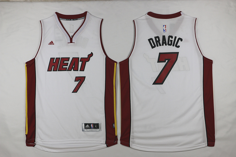 NBA Miami Heat 7 DRAGIC White 2015 Jerseys