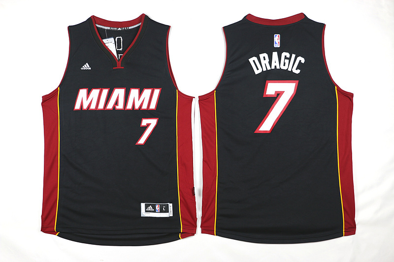 NBA Miami Heat 7 Dragic Black 2015 Jerseys.