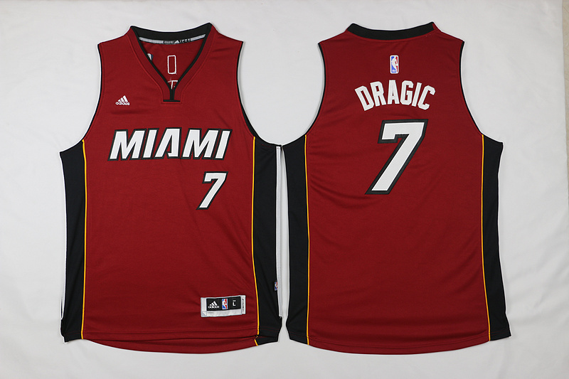 NBA Miami Heat 7 Dragic Red 2015 Jerseys.