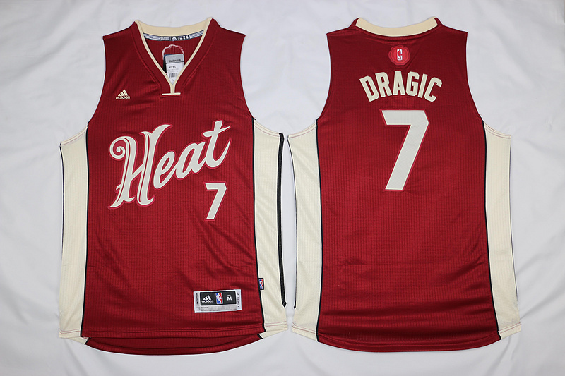 NBA Miami Heat 7 Goran Dragic Red 2015 Christmas Day Swingman Jersey
